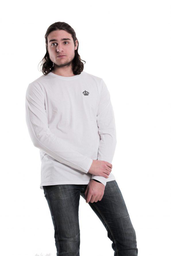 """Amerpus® Herren Longsleeve """"Logo & Glaz Weiß"""" – Seite"""