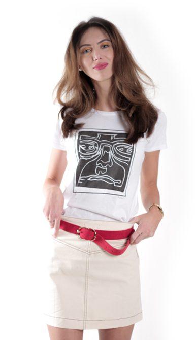Damen – Face – Weiß T-shirt